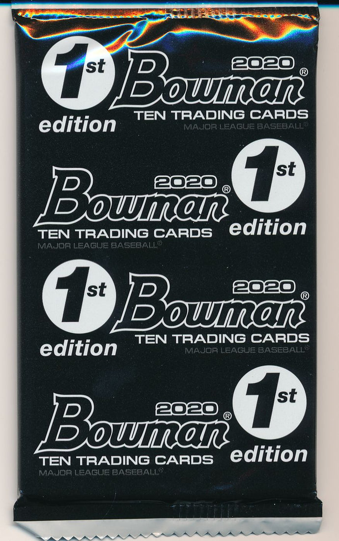 2020 Bowman 1st Edition Baseball Pack ~ Rip & Ship