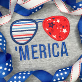 Sunglass Applique Patriotic