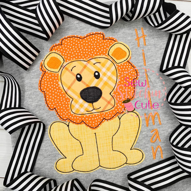 Lion Bean Stitch Design