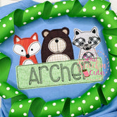 Woodland Animals Applique