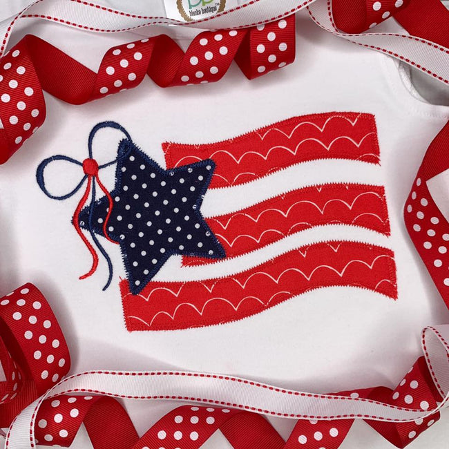 Flag Applique w/Bow