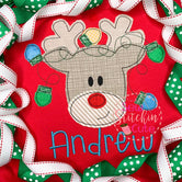 Reindeer Boy Applique