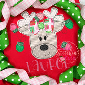 Reindeer Girl Applique