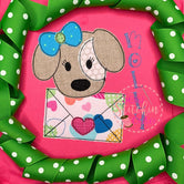 Valentine Pup with Envelope