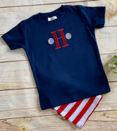 Baseball Add on Monogram