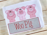 Piggly Pig Line with Name Plate