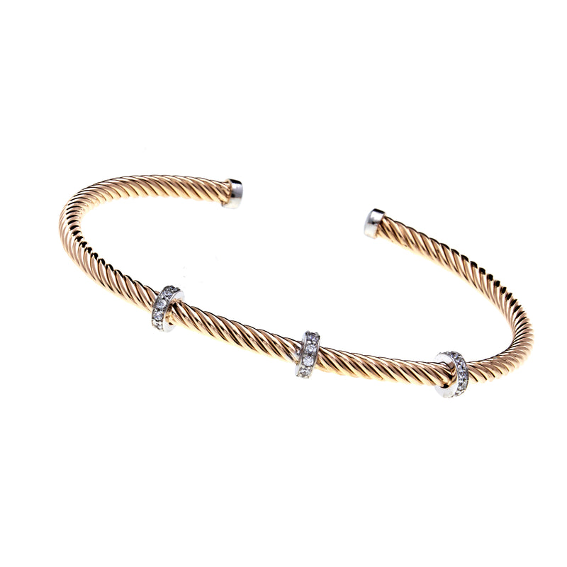 Xanthe Gold Cuff Bangle