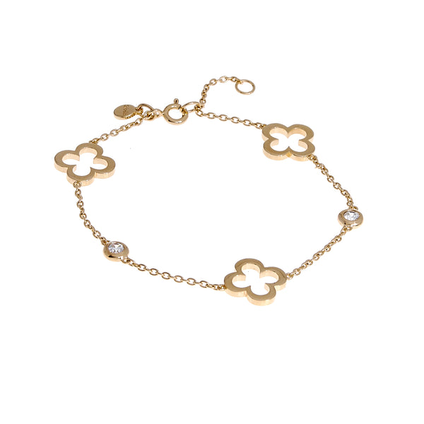 Hollow flower Gold Bracelet