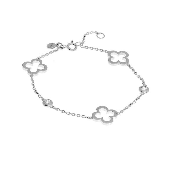 Hollow flower Silver Bracelet