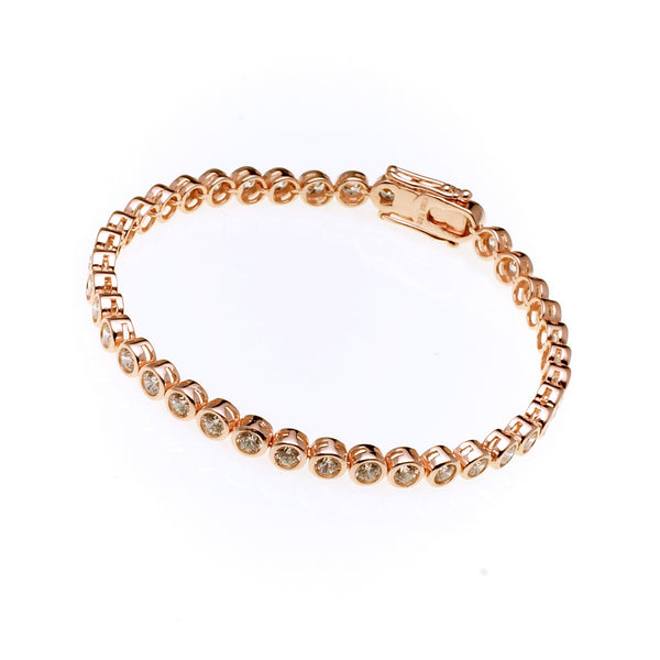 Elle Rose Gold Tennis Bracelet