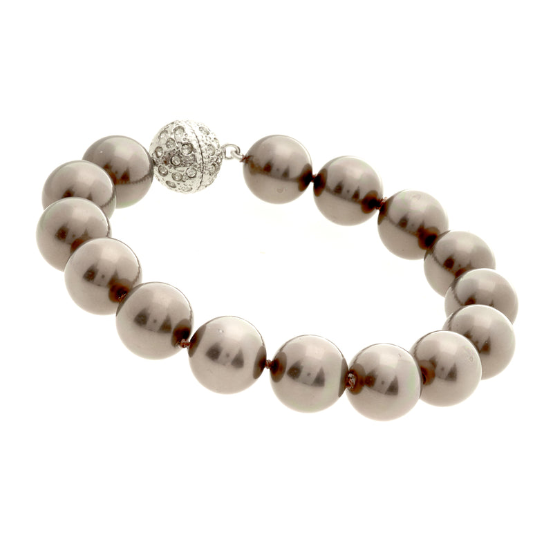 Classic Round Coffee Pearl Bracelet