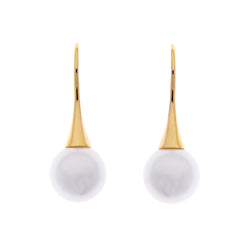 Bella Gold Pearl Drop Earrings