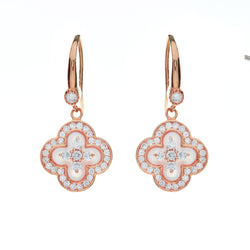 Flora Rose Gold Flower Earrings