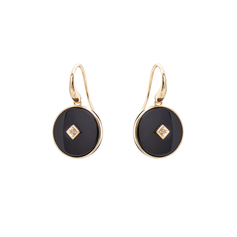 Poppy Gold & Black Earrings