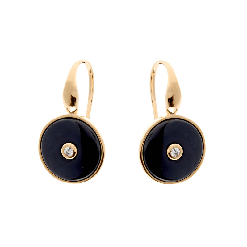Olivia Gold & Black Earrings