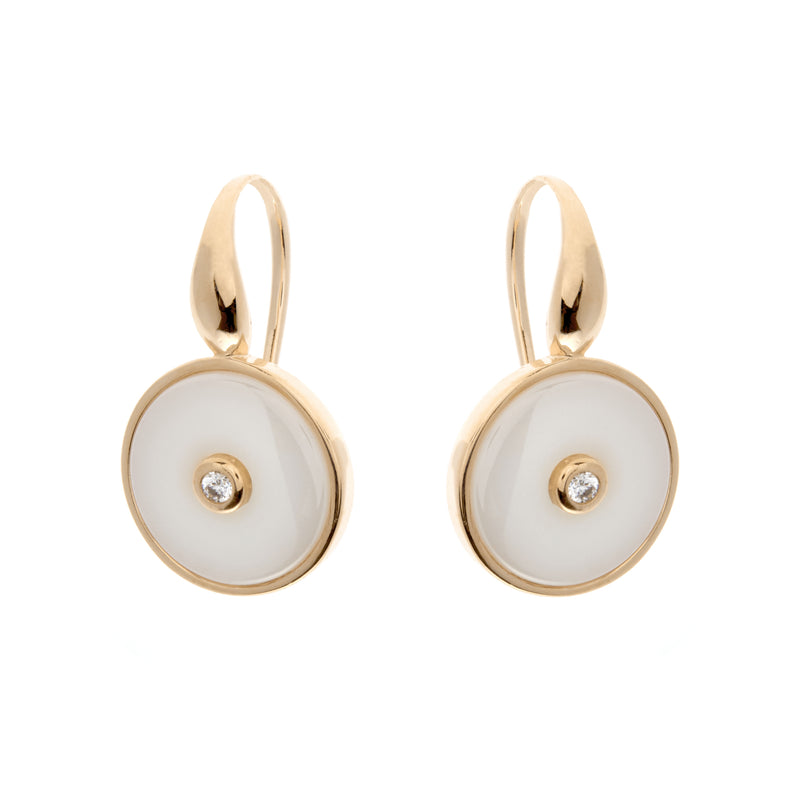 Olivia Gold & White Earrings