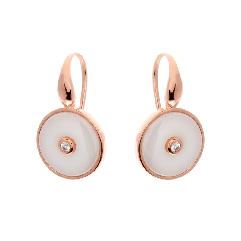 Olivia Rose gold & White Earrings