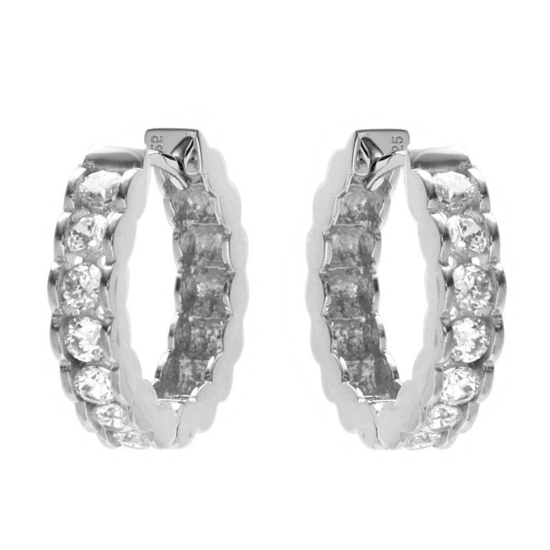 Harper Silver Hoop Earrings