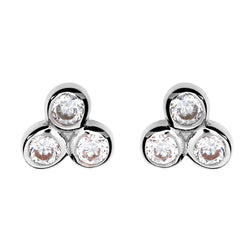 Jade Silver Stud Earrings