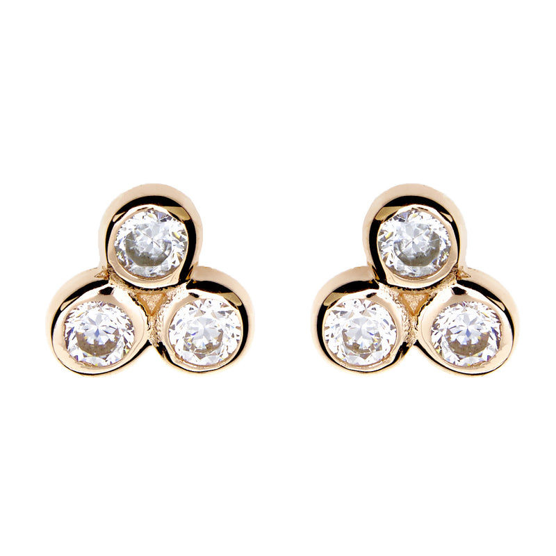 Jade Gold Stud Earrings