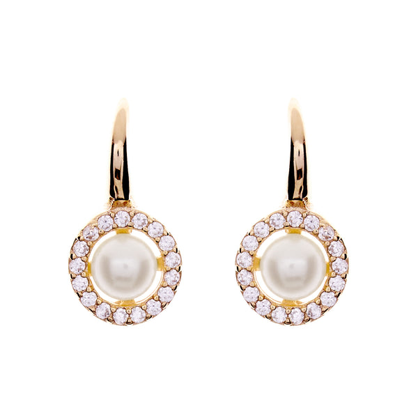 Grace Gold Pearl Hook Earrings