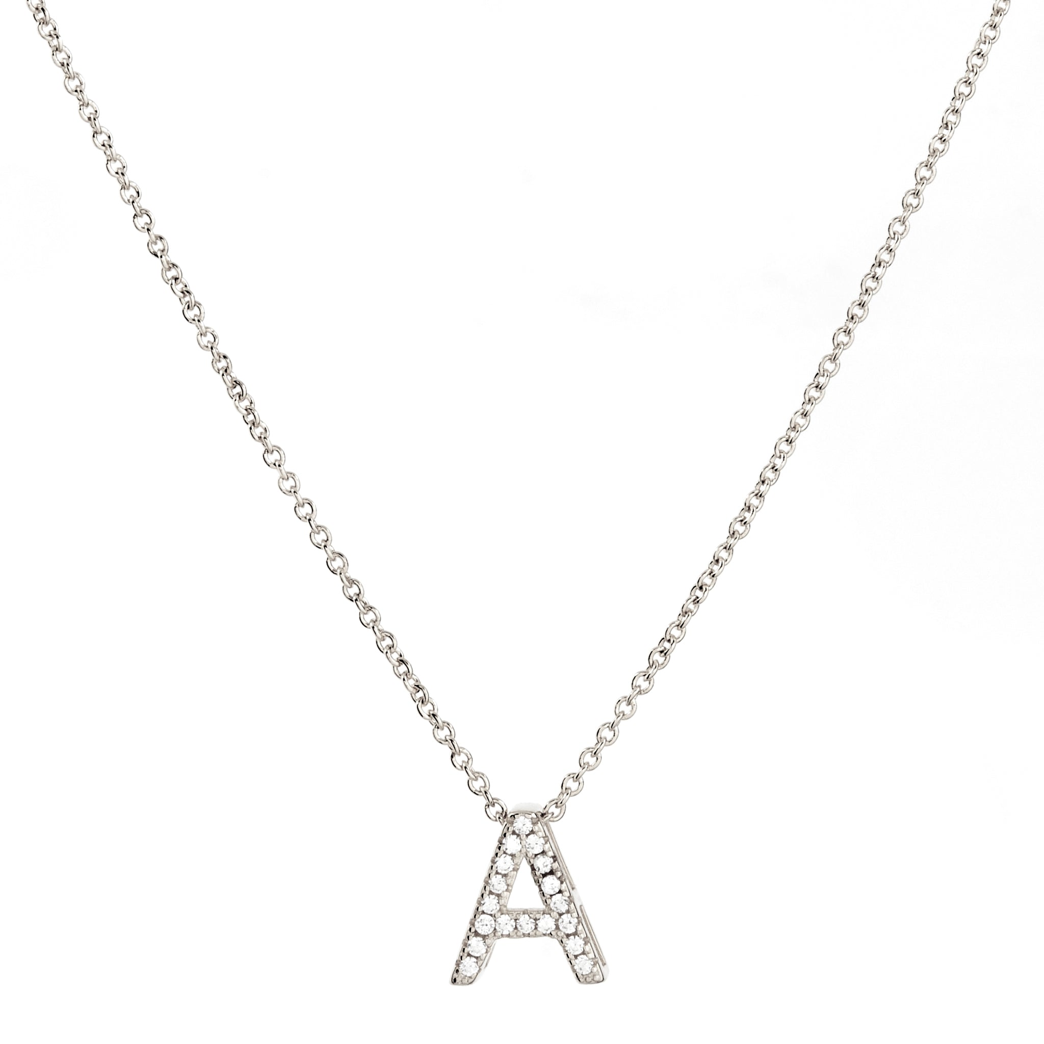 A-Z Initials by Sybella - Silver with Cubic Zirconia