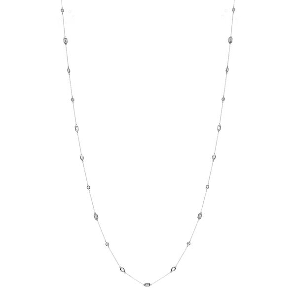 Electra Long Silver Necklace