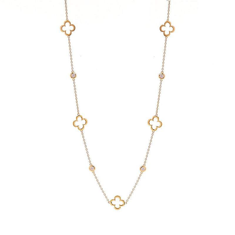 Hollow flower Gold Necklace
