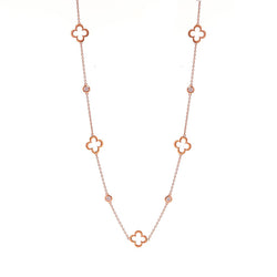 Clover Rose Gold Necklace
