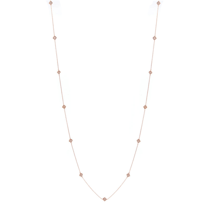 Yasmin Rose Gold Flower Long Necklace