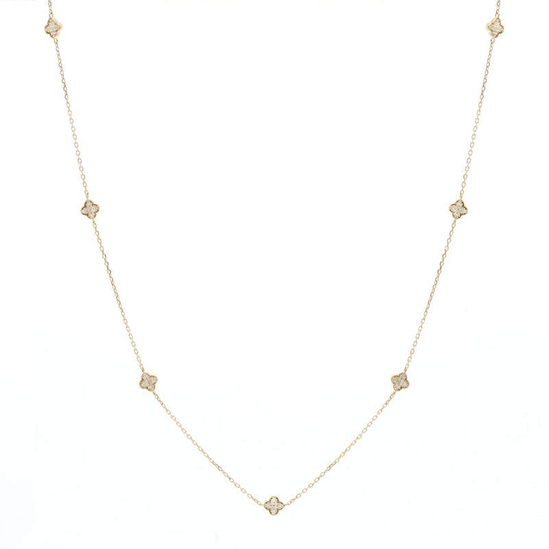 Yasmin Gold Flower short Necklace