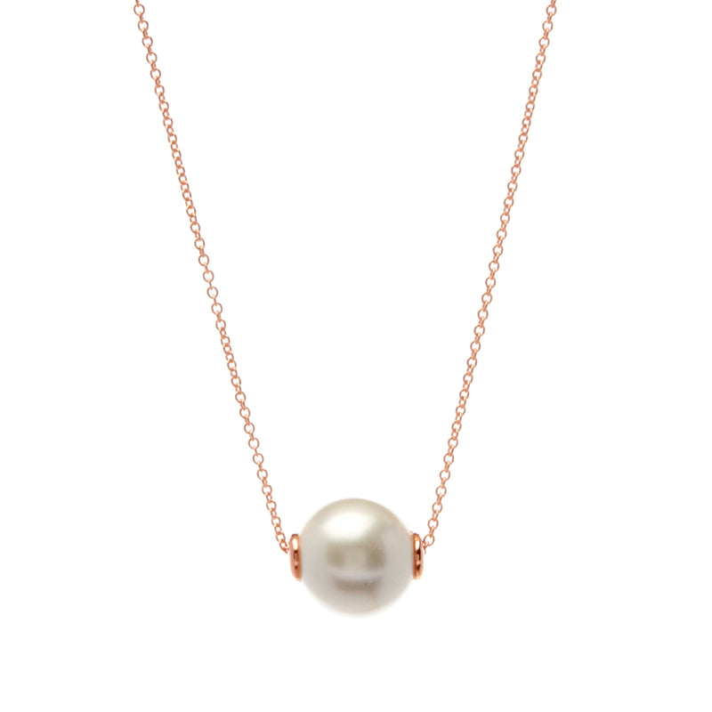 Bella Pearl Rose Gold Necklace