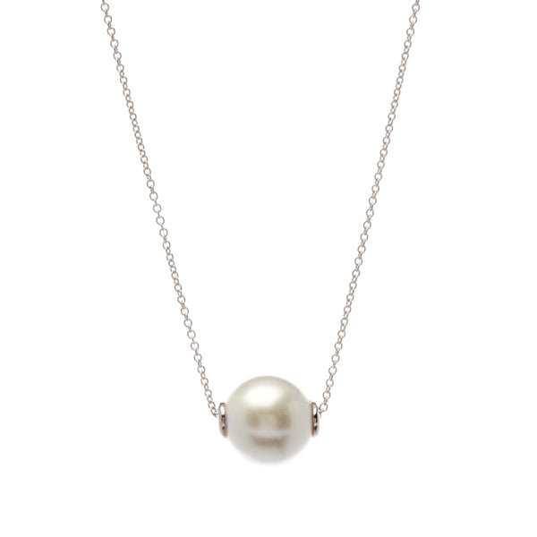 Bella Pearl Silver Necklace