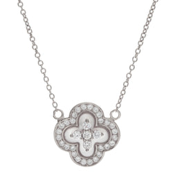 Flora Silver Flower Necklace