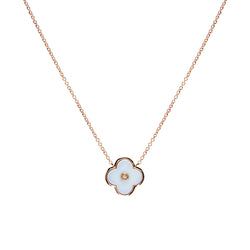 Flower White & Gold Necklace