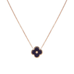 Flower Black & Gold Necklace