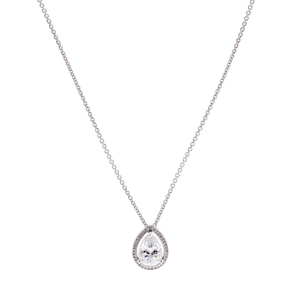 Pear Silver Necklace