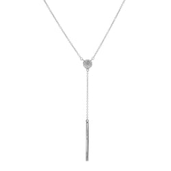 Molly Silver Drop Necklace