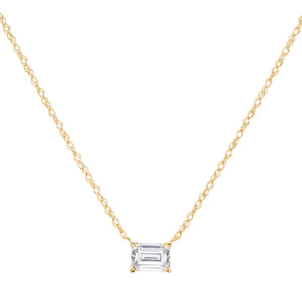 Ayla Gold Plate Baguette Necklace