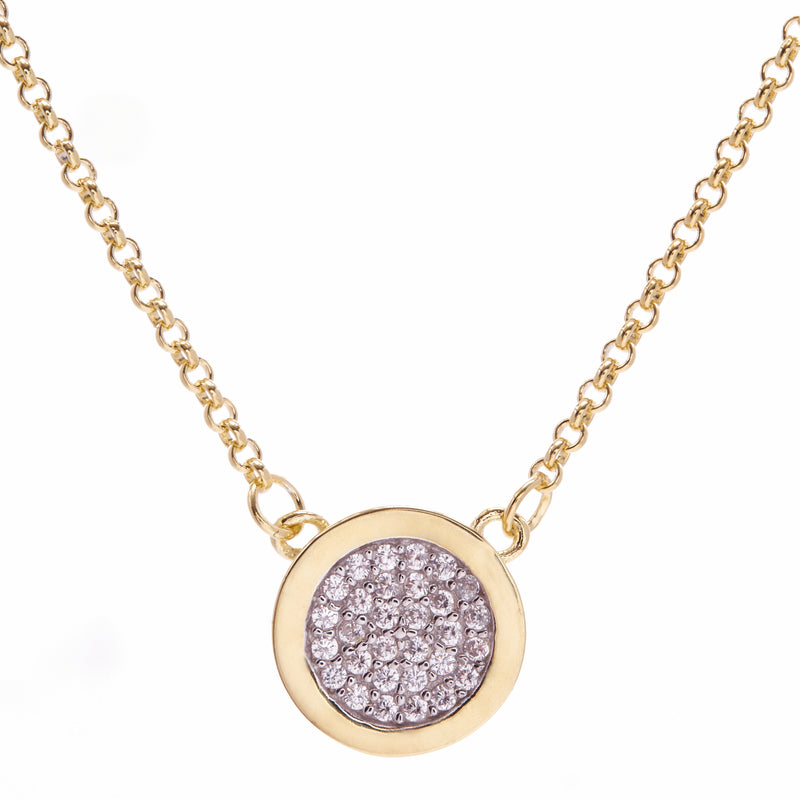 Sage Gold Disc Necklace