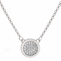 Sage Silver Disc Necklace