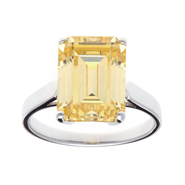 Ada Yellow Cubic Zirconia Ring