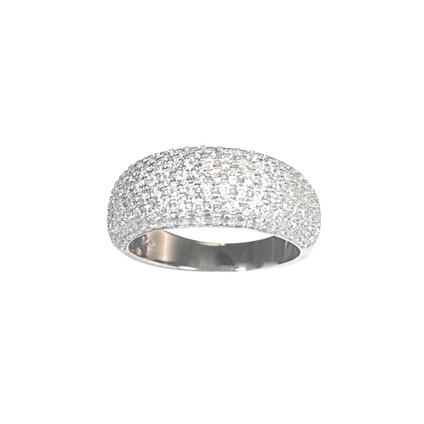 Mirco Pave 7 Row Dress Ring