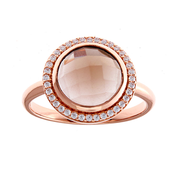 Smoky Quartz Rose Gold Ring