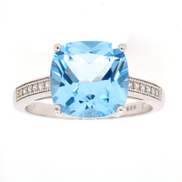 Skyla Blue Cubic Zirconia Ring