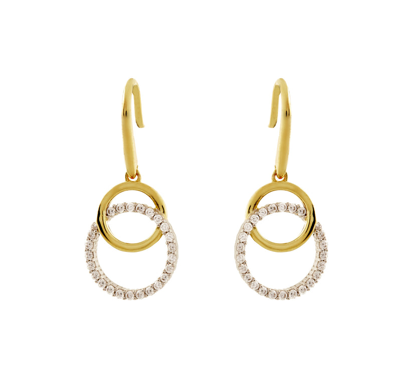 Ella Gold Double Circle Earrings