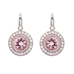 Celine Round Pink Earrings on French Hook