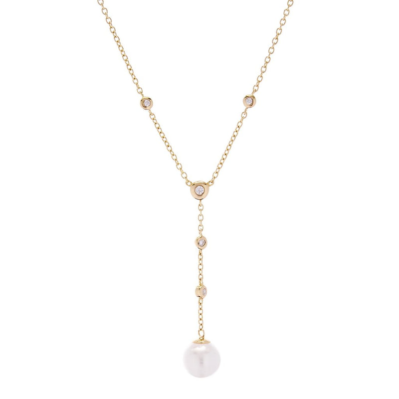 Issy Pearl Drop Gold Necklace