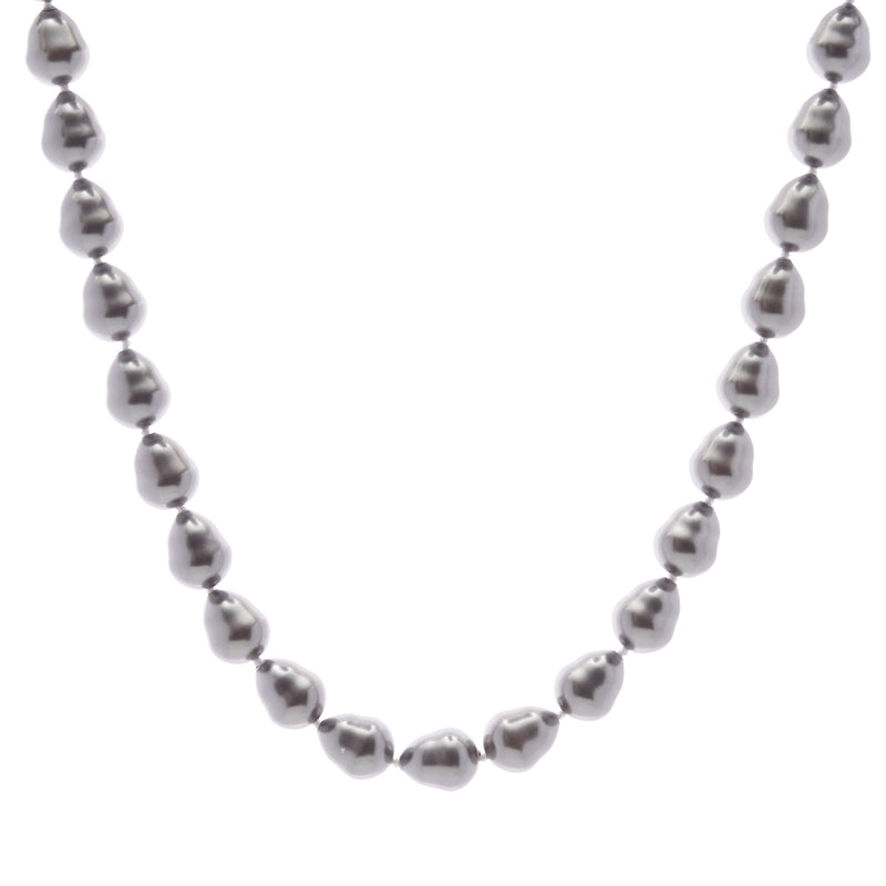 Classic Baroque Grey Pearl Necklace