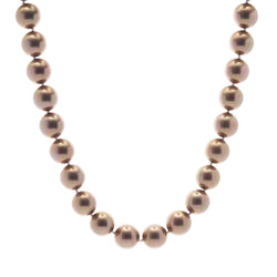 Classic Round Coffee Pearl Short Necklace